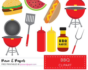 Barbecue clipart birthday bbq Use Use Commercial Clipart Commercial