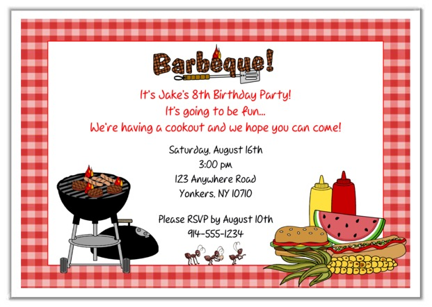 Barbecue clipart birthday bbq Bbq invitations party bbq invitations