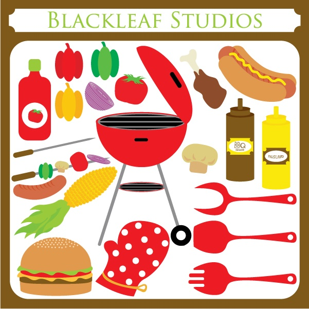 Barbecue clipart birthday bbq Digital jumbo fun Babecue ClipArt
