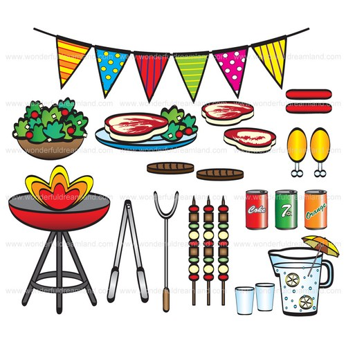 Barbecue clipart birthday bbq Barbeque PNG PDF Printable Barbecue