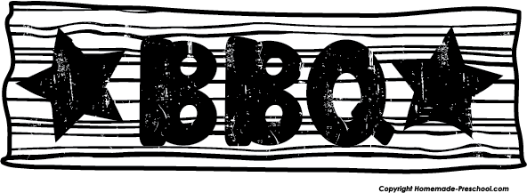 Barbecue clipart black and white Clipart clipart Bbq border free
