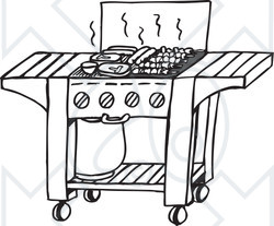 Barbecue clipart black and white Black Clipart Clipart And Free