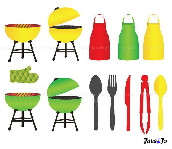 Barbecue clipart end summer BBQ graphics Grill Clipart vector