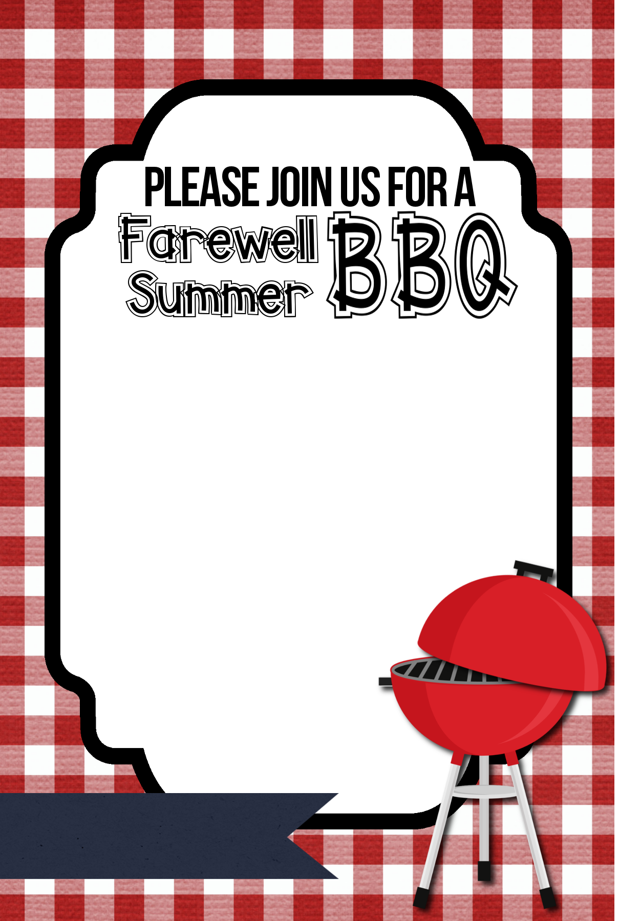 Barbecue clipart end summer Free Summer Invitations BBQ