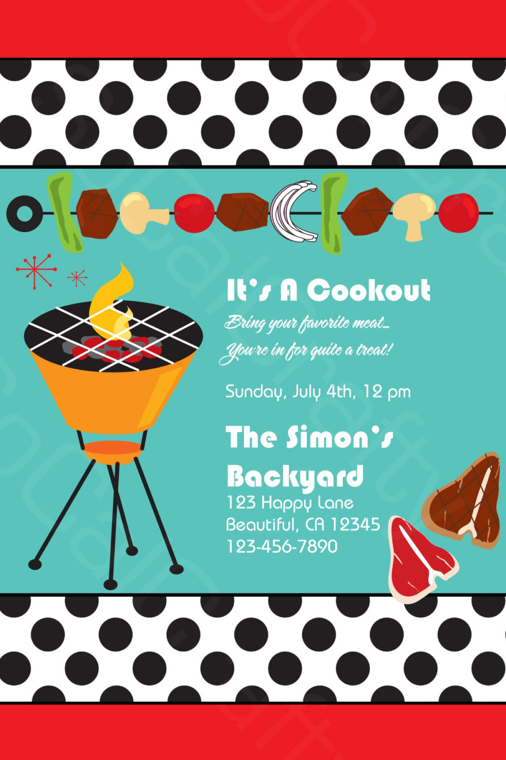 Barbecue clipart family gathering Reunion Family Clipart Free Invitations