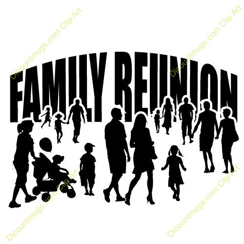 Barbecue clipart family gathering African Family on reunion mugs