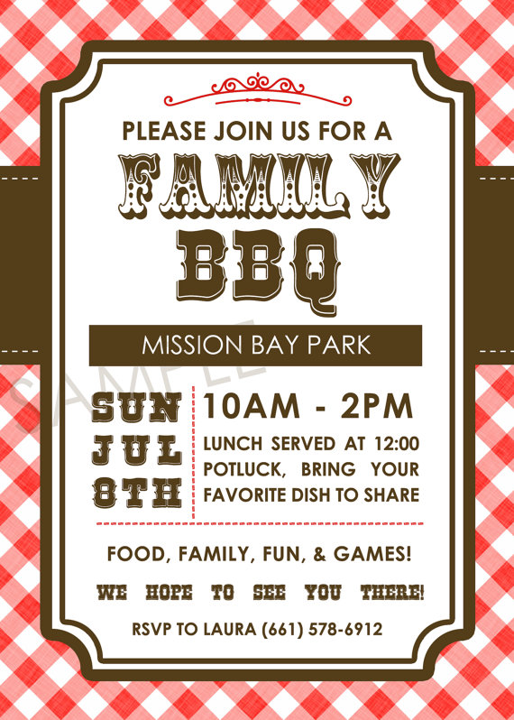 Barbecue clipart family gathering Picnic Invitation Family Reunion BBQ