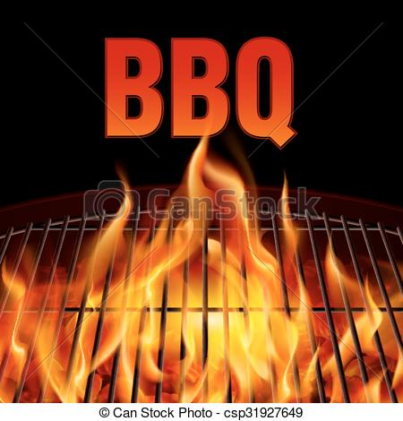 Bonfire clipart winter camping Grill grill  on fire