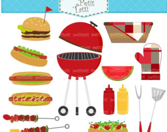 Barbecue clipart hamburger hotdog Party Backyard clipart barbecue Party