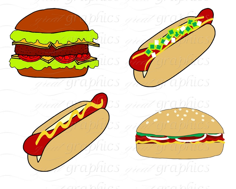 Burger clipart cookout Party Art Out Pictures Digital