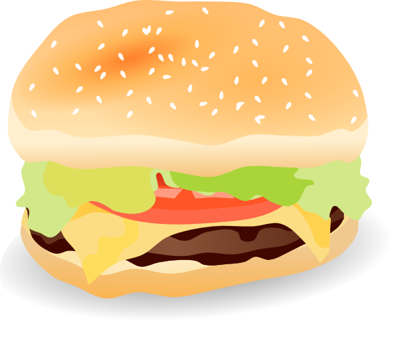Veggie Burger clipart fast food A and hamburger of free