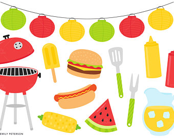 Barbecue Sauce clipart summertime Clipart Hot Etsy Cute dog