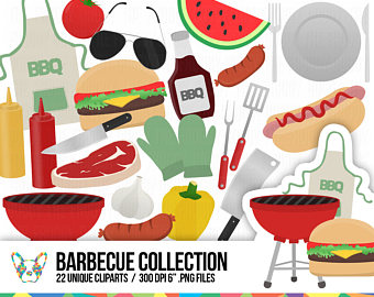 Barbecue Sauce clipart summer bbq Summer Weekend Digital Clip Clipart