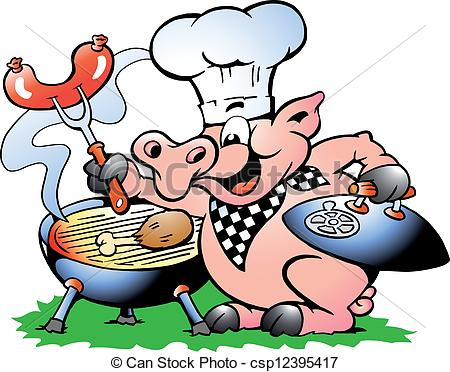 Roast clipart main course Panda Bbq Free Images Clipart