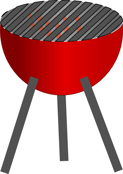 Barbecue clipart red grill Online vector art this