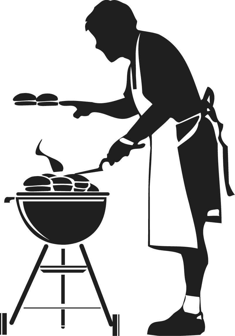 Barbecue clipart red grill Art free clip Clip