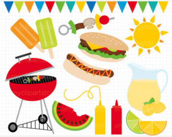 Barbecue Sauce clipart summertime Clip / Digital art Download)