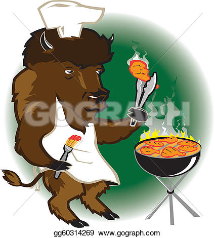 Barbecue clipart tailgate Clip Bison A Stock Illustration