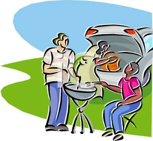 Barbecue clipart tailgate A At Car People Barbeque