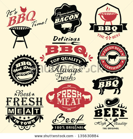 America clipart bbq Graphics stock  labels bbq