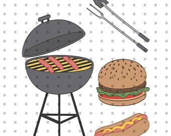 Barbecue Sauce clipart backyard bbq BBQ Grill Dog Art Backyard