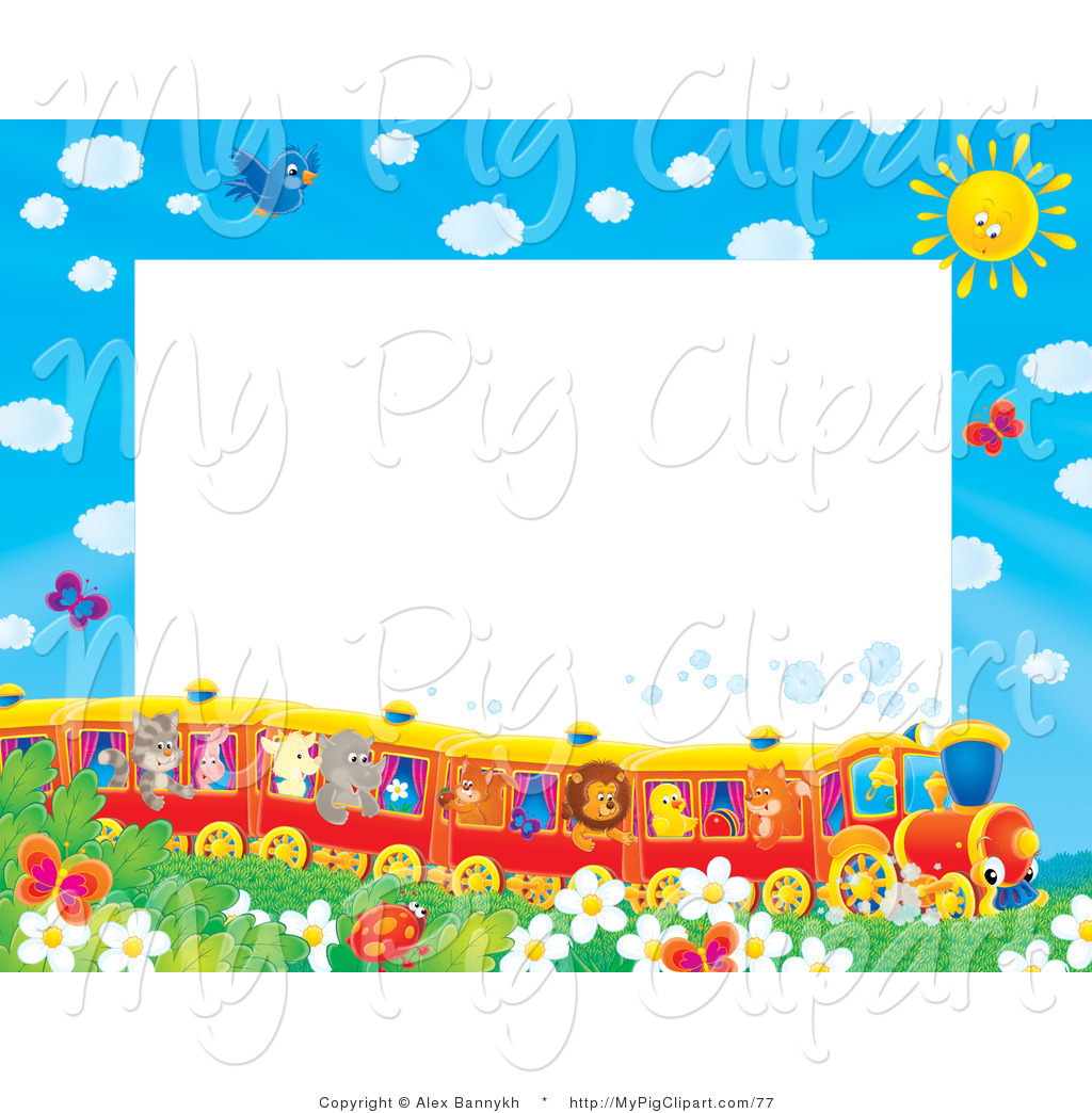 Barbecue Sauce clipart border Of a Watching Stationery Pig