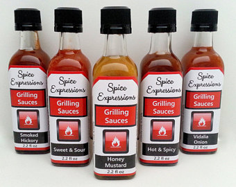 Barbecue Sauce clipart condiment Groomsman gift sauce set grilling