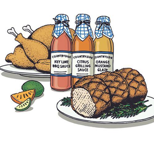 Barbecue Sauce clipart mustard And Mustard Sauce Citrus Trio