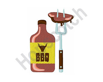 Barbecue Sauce clipart summertime X Embroidery 4 sauce Grilling