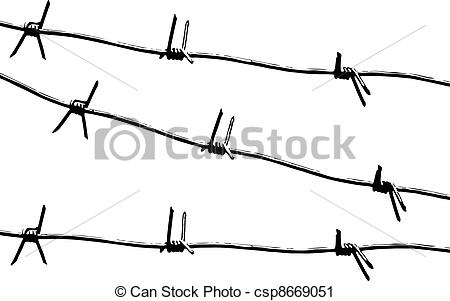 Barb Wire clipart black and white Art vector vector Barbed Vector