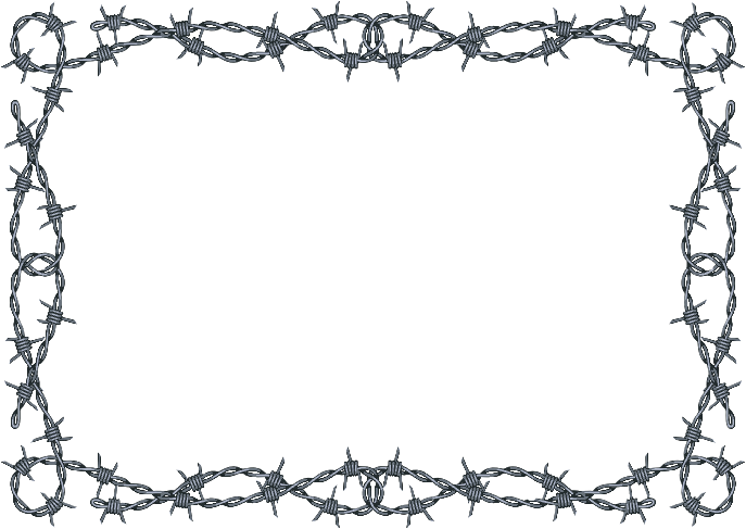 Barbed Wire clipart border Collection Barbed Western clipart borders
