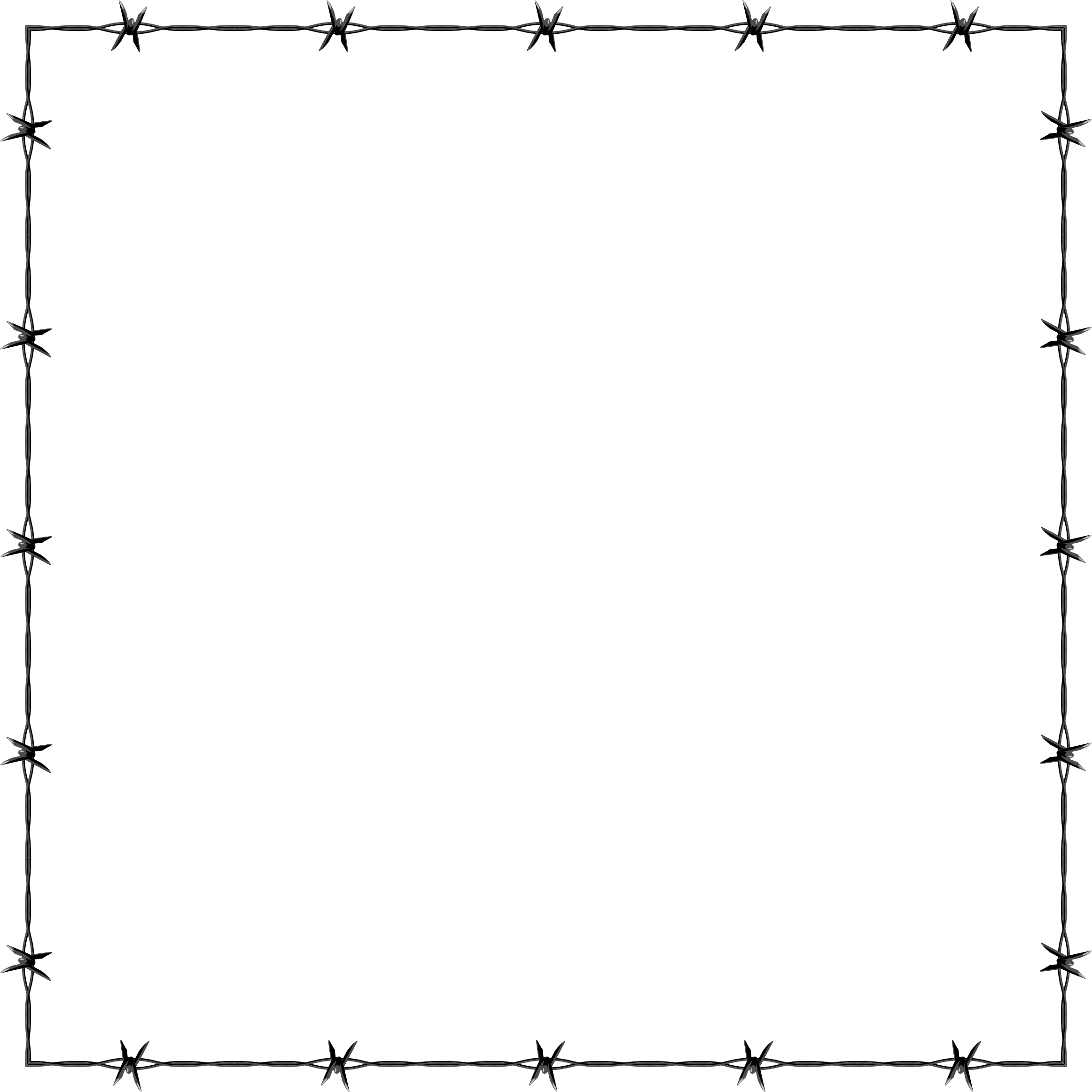 Barbed Wire clipart border Frame Border Barbed Wire Border