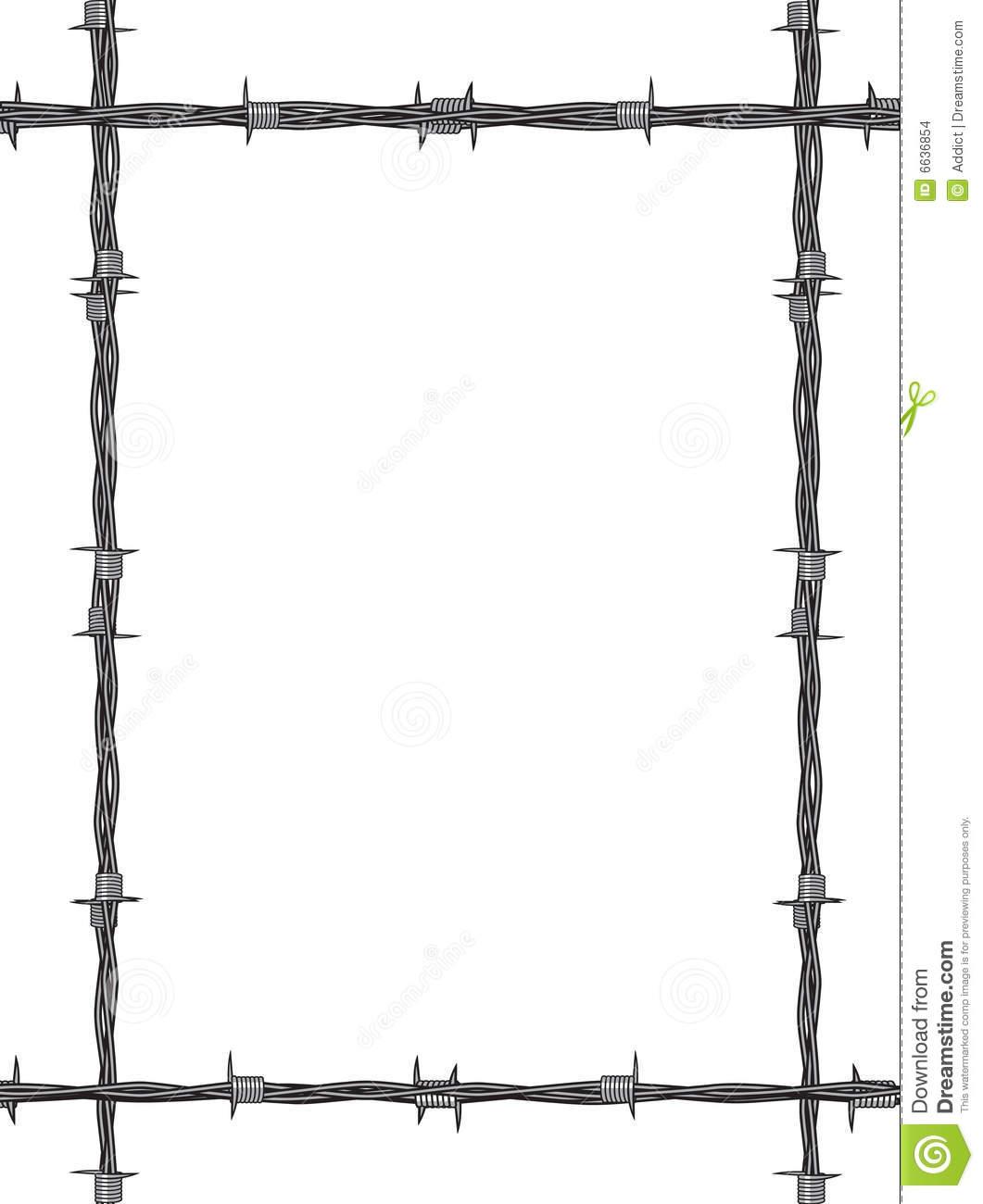 Barbed Wire clipart border Com Roslonek Clip Barbed Clker