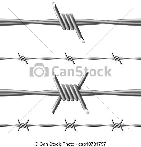 Barb Wire clipart razor wire White of csp10731757 Vector Clipart
