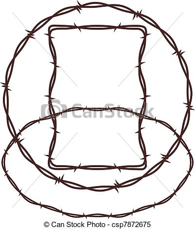 Barb Wire clipart circle #6