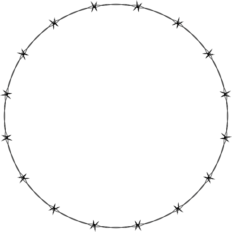 Barb Wire clipart circle #4