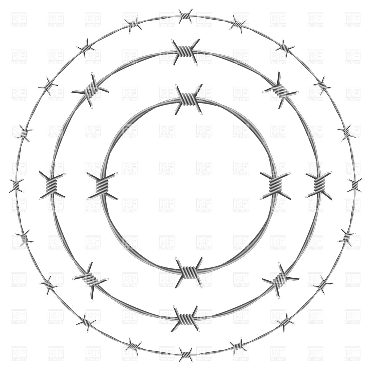 Barb Wire clipart razor wire Vector circle Barbed frames