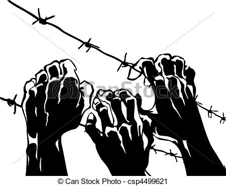 Wire clipart line Barbed of wire barbed on