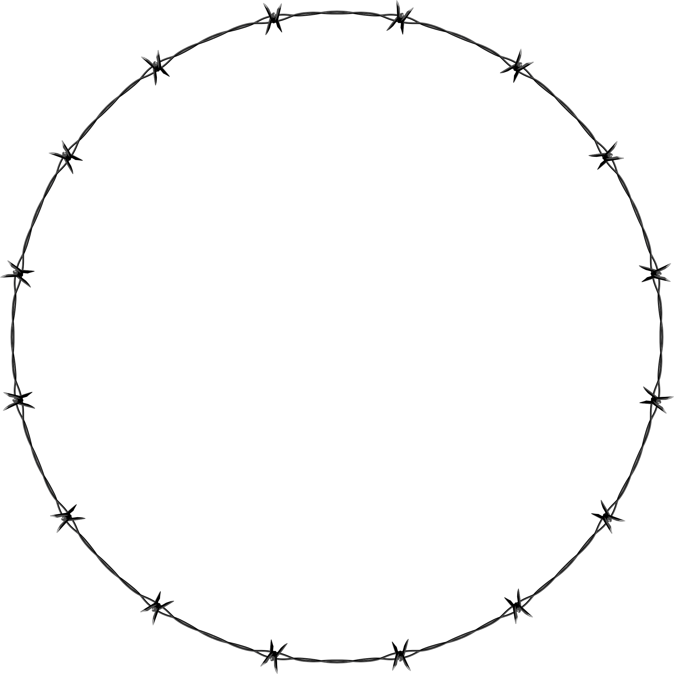 Barb Wire clipart circle #2