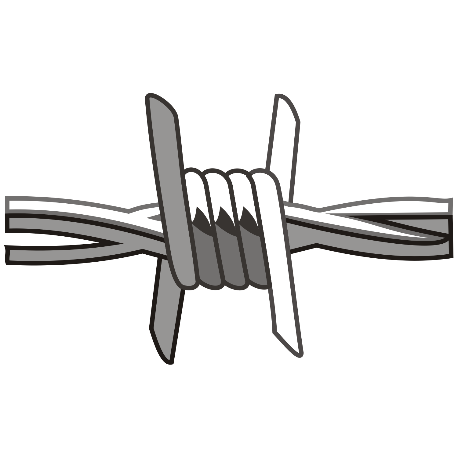 Barb Wire clipart black and white Free wire Barbed Vector Barbed