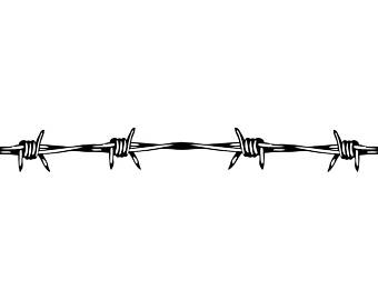 Barb Wire clipart black and white Jail Instant Circular Ranch Fence