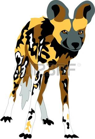 Wild Dog clipart Hyena Clipart Clipart Download drawings Dog #1