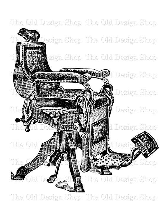 Barbet clipart Chair Download Vintage Printable Download