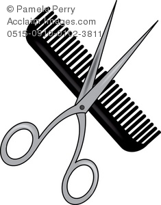 Barbet clipart stylist Pair Comb Illustration a a