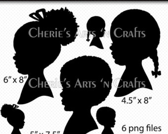 Barbie clipart african american Instant Clip Silhouettes clipart Silhouettes