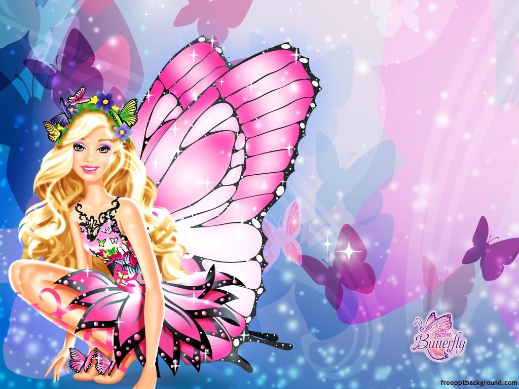 Barbie clipart background PPT cute – design Cute