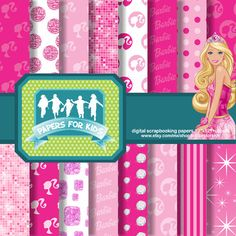 Barbie clipart background Papers Clip Bear Papers Glitter