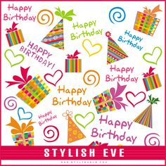 Barbie clipart birthday card Happy and Stylish Eve Inspirations: