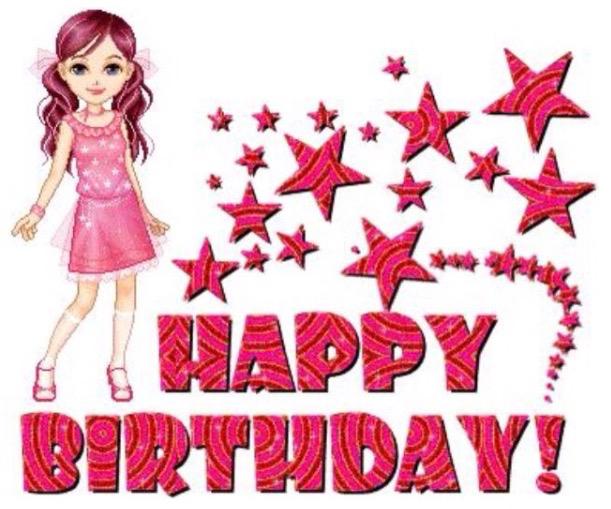 Barbie clipart birthday card Words: Birthday Epiphany Happy Birthday