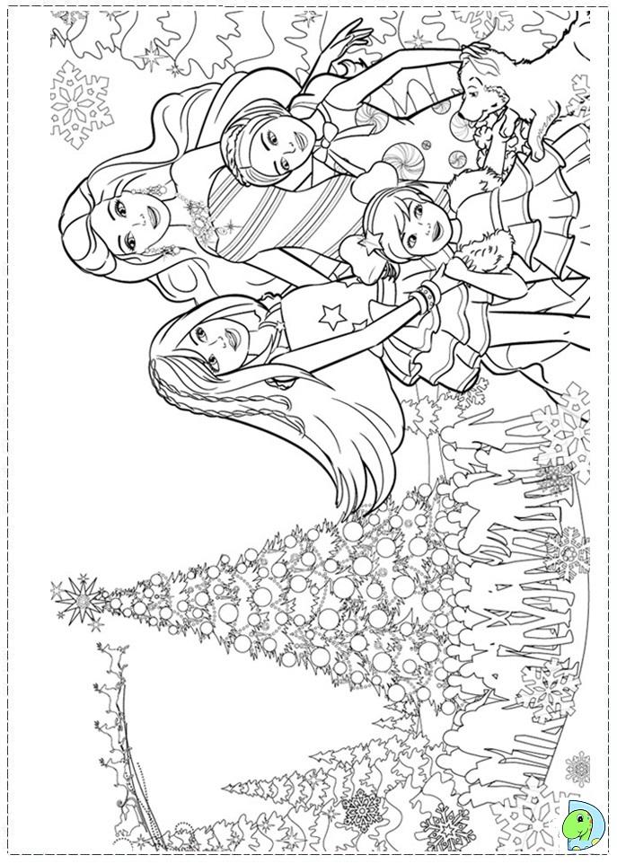 Barbie clipart christmas coloring Barbie Christmas Barbie the Printables